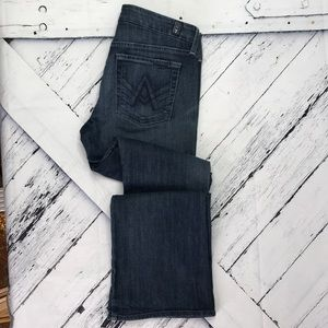 """7 FOR ALL MANKIND """"A"""" Pocket Bootcut Jeans sz 28"""